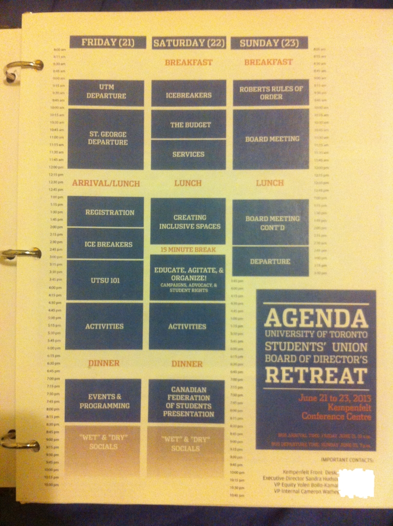 The Board Retreat Agenda